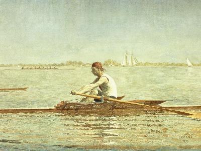 John Biglin in a Single Scull-Thomas Cowperthwait Eakins-Giclee Print