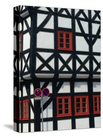 Half-Timbered House of Medieval Town Erfurt, Thuringia, Germany