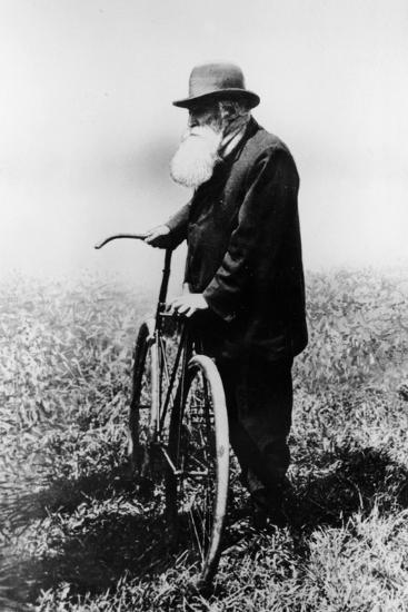 John Boyd Dunlop with Bicycle, July 1918--Photographic Print