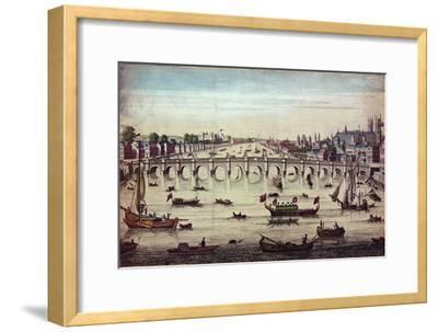 Westminster Bridge, Looking Westward, 1747