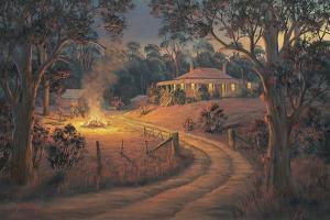 Bush Bonfire by John Bradley