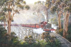 Misty Morning - Belgrave by John Bradley