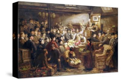 An Edinburgh Flower Market, Circa 1899
