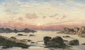 Bude Sands at Sunset, 1874 by John Brett