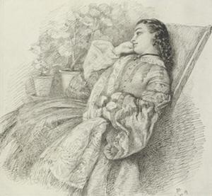 Georgina Hannay, 1859 by John Brett