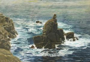 Land's End, 1872 (Oil on Board) by John Brett