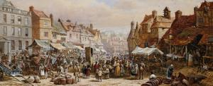 Market Day, Ashbourne, Near Derby by John Brett