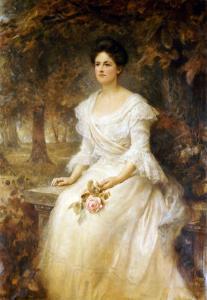 Portrait of a Lady, 1902 by John Brett