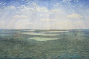 The British Channel Seen from the Dorsetshire Cliffs by John Brett
