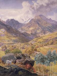 The Val D'Aosta, 1858 by John Brett
