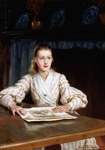 The Young Collector, 1889 by John Brett