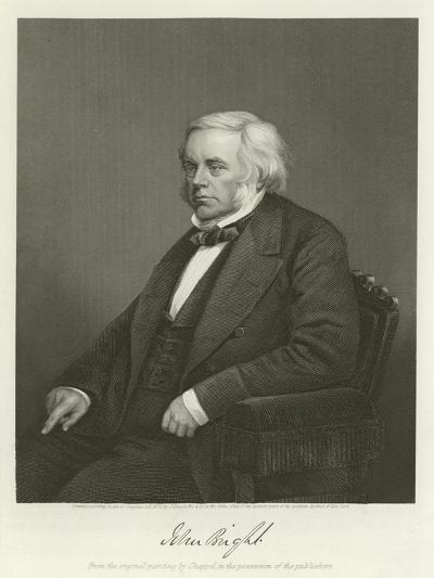 John Bright, British Radical and Liberal Politician-Alonzo Chappel-Giclee Print