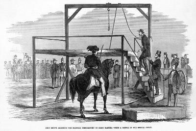 John Brown Ascending the Scaffold to Be Hanged, Pub. 1859--Giclee Print