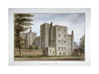 Lollard's Tower, Lambeth Palace, London, 1831