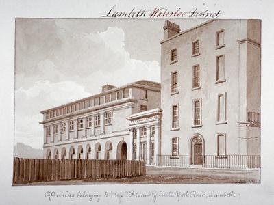 Premises Belonging to Builders Peto and Grissell in York Road, Lambeth, London, 1828