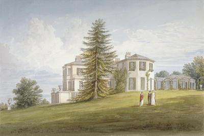 South-West View of Bromley Hill, Bromley, Kent, 1815