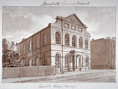 View of a Chapel on York Road, Lambeth, London, 1828
