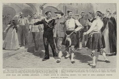 John Bull and Brother Jonathan-Frederic De Haenen-Giclee Print