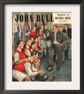 John Bull, Arsenal Football Team Changing Rooms Magazine, UK, 1947