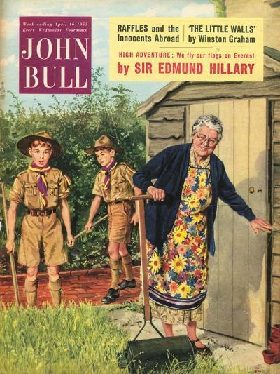 John Bull, Bob a Job Sheds Boy Scouts Magazine, UK, 1950--Giclee Print