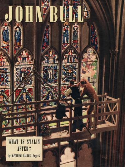 John Bull, Churches Stained Glass Windows Repairs Magazine, UK, 1948--Giclee Print
