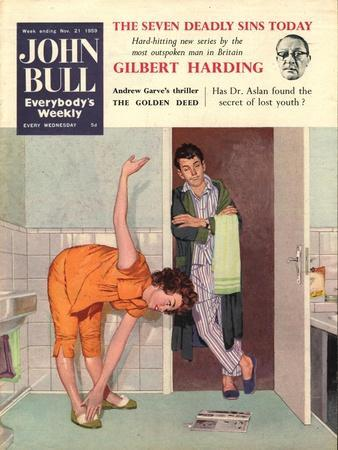 John Bull, Diets Slimming Weight Loss Exercise Keep Fit Magazine, UK, 1950--Giclee Print