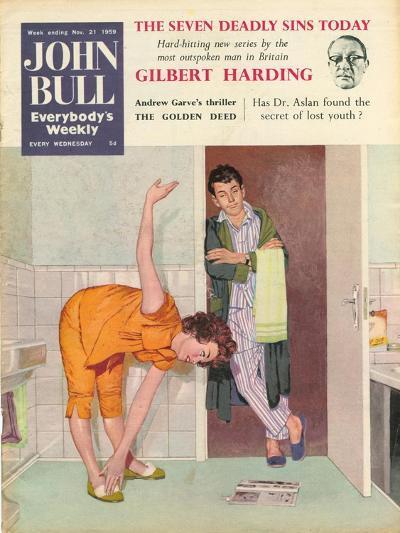 John Bull, Exercise Bathrooms Magazine, UK, 1950--Giclee Print