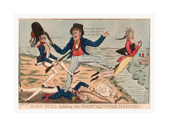 John Bull Fighting the French Single Handed--Giclee Print