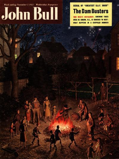 John Bull, Guy Fawkes Fireworks Bonfires Magazine, UK, 1951--Giclee Print