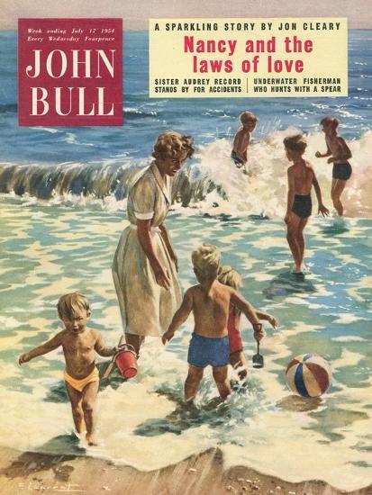 John Bull, Holiday Beaches, Paddling Inflatables, Beach Balls Magazine, UK, 1950--Giclee Print
