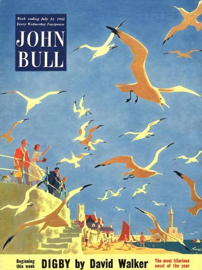 John Bull, Holiday Beaches Seagulls Magazine, UK, 1953--Giclee Print