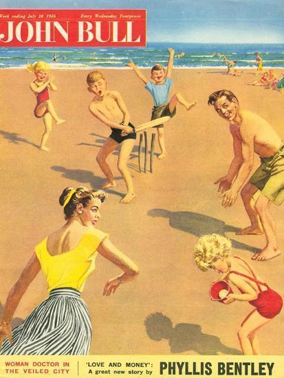 John Bull, Holiday Cricket Beaches Seaside Magazine, UK, 1950--Giclee Print