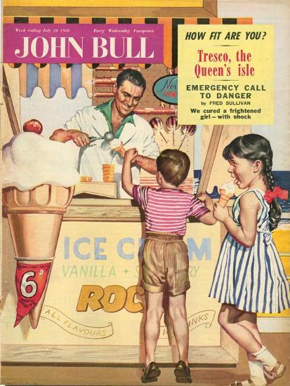 John Bull, Holiday Ice-Cream Magazine, UK, 1950--Giclee Print