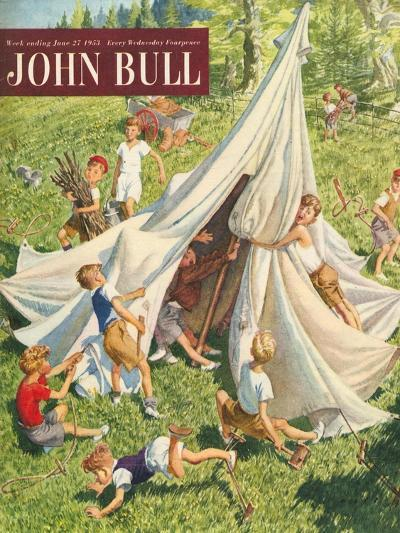 John Bull, Holiday Tents Camping Accidents Disasters Magazine, UK, 1950--Giclee Print