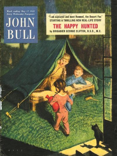 John Bull, Holiday Tents, Camping Adventures Magazine, UK, 1950--Giclee Print
