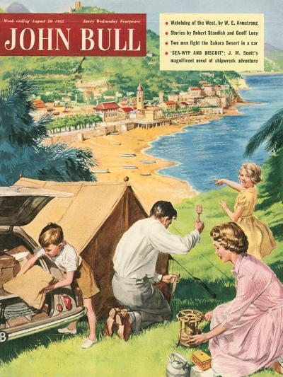 John Bull, Holiday Tents Camping Beaches Seaside Magazine, UK, 1950--Giclee Print