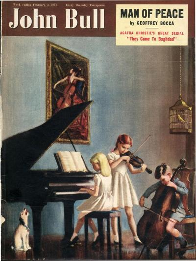 John Bull, Pianos Instruments Playing Cellos Violins Dogs Magazine, UK, 1951--Giclee Print