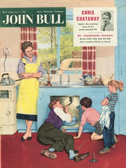 John Bull, Plumbers Plumbing DIY Mending Kitchens Sinks Magazine, UK, 1950--Giclee Print