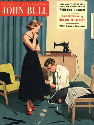 John Bull, Repairing Mending Alterations Womens Magazine, UK, 1955--Giclee Print