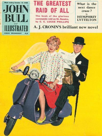 John Bull, Scooters City Gents Bowler Hats Commuters Magazine, UK, 1958--Giclee Print