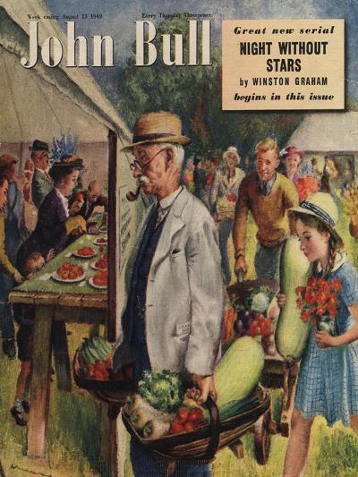 John Bull, Villages Fetes Vegetables Flowers Show Magazine, UK, 1949--Giclee Print