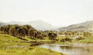 Monument Mountain from the Berkshire Meadows, circa 1875 by John Bunyan Bristol