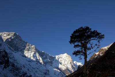 Himalayan Mountain Range in the Khumbu Region, Nepal by John Burcham
