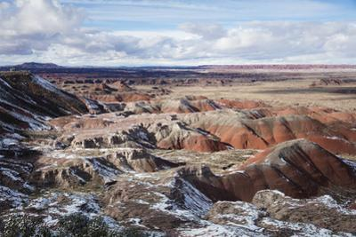 Snow covers the landscape of the Petrified National Park. by John Burcham