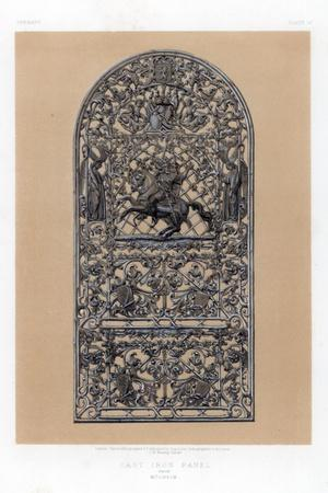Cast Iron Panel from Mulheim, Germany, 19th Century
