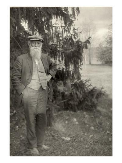 John Burroughs Author and Naturalist, Standing Outside His Home in Upstate New York in 1914--Photo