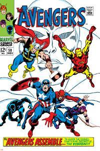 Giant-Size Avengers No.1 Cover: Thor, Iron Man, Captain America and Black Panther by John Buscema