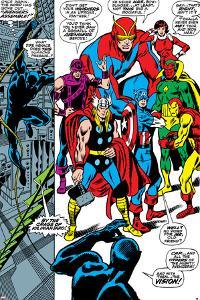 Giant-Size Avengers No.1 Group: Thor, Captain America, Hawkeye, Black Panther and Vision by John Buscema