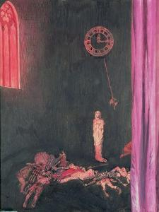 """""""Darkness and Decay and the Red Death Held Illimitable Dominion over All"""", Illustration for 'The… by John Byam Liston Shaw"""