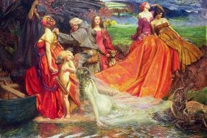 Now Is the Pilgrim Year Fair Autumn's Charge, 1904 by John Byam Liston Shaw